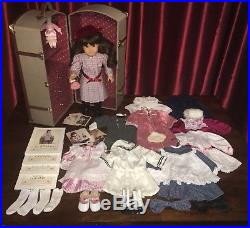 American Girl Samantha Doll, Trunk, Clothes, Shoes, Books, & Trading Cards