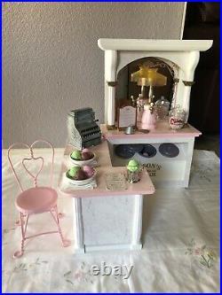 American Girl Samantha Ice Cream Parlor Set. Retired And Rare