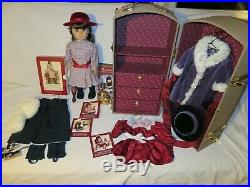 American Girl Samantha Lot Doll, Trunk, Outfits, 6 Books, video, extras EUC