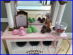 American Girl Samantha's Ice Cream Parlor Shop RETIRED RARE & Accessories SET