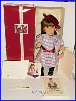 American Girl Signed White Body Samantha Doll Coa Book Box Pleasant Co Great