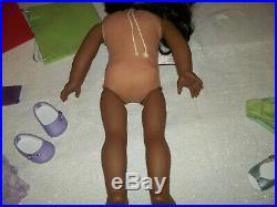 American Girl Sonali Doll bundle Lot meet panties sweater green back sock outfit