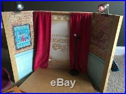 American Girl Tenney Performance Stage And Dressing Room With Accessories