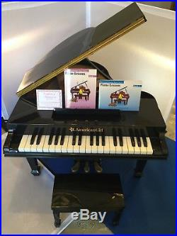 American Girl doll Grand Piano, Bench, Books WORKS & RETIRED Excellent Condition