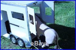 American Girl, doll, Horse, Trailer, dollhouse, stable