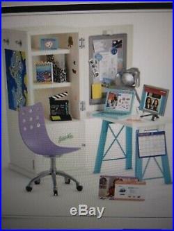American Girl doll Z Yang's storage desk closet for bedroom 18 doll
