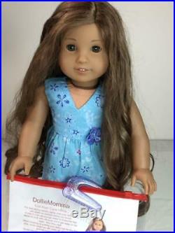 American Girl of the Year 201118 inch Doll KananiMeet DressLong brown hair
