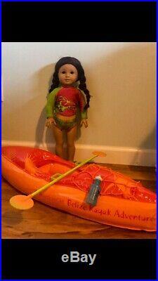 American girl doll Jess, clothing, accessories, kayak, hammock, used