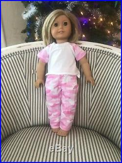 American girl doll Lot 2 Dolls Blond Blue Eyes Kiterage Brunette Brown Eyes