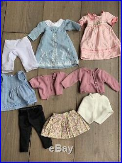 American girl doll lot of dolls used + Clothing