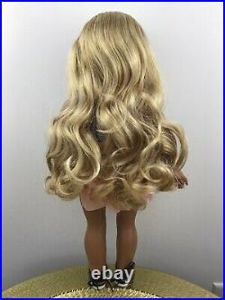 Angel Custom OOAK American Girl Doll Tenney Blonde Wig Marie Grace Eyes Kanani
