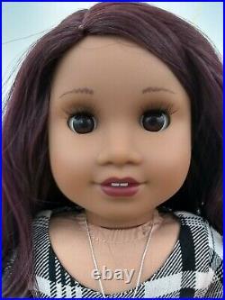 August Custom OOAK American Girl Doll Melody Deep Purple Hair Brown Eyes