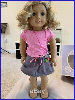 BARELY USED American Girl Doll Just Like You Doll- Curly, Blonde Hair, Blue Eyes