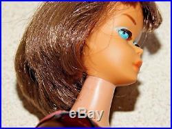 Barbie VINTAGE Brunette LONG HAIR AMERICAN GIRL BARBIE Doll withTOE POLISH