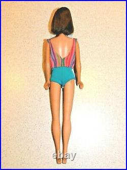 Barbie VINTAGE Brunette LONG HAIR AMERICAN GIRL Bend Leg BARBIE Doll