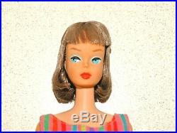 Barbie VINTAGE Brunette LONG HAIR Bend Leg AMERICAN GIRL BARBIE Doll
