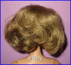 Barbie Vintage American Girl Side Part Brunette Silver Ash Blonde Lovely Doll