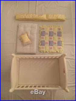 Bitty Baby 2 Cribs, Bedding, Changing Table, and High Chair