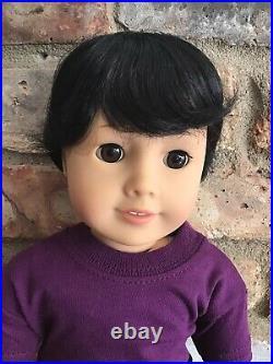 Carson Custom Boy American Girl Doll OOAK Black Hair Brown Eyes Brother Logan
