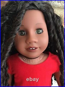 Charisma Custom American Girl Doll OOAK Curly Black Hair Hazel Eyes Addy