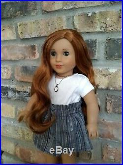 Custom OOAK American Girl Doll Marie Grace Red Hair Hazel Eyes Create Your Own