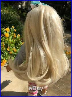 Custom Ooak American Girl Doll new Blond wig, blue eyes, Jojo Siwa styled