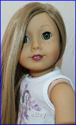 Custom ooak American Girl Doll GOTY Saige with Isabelle's Green eyes NO RESERVE