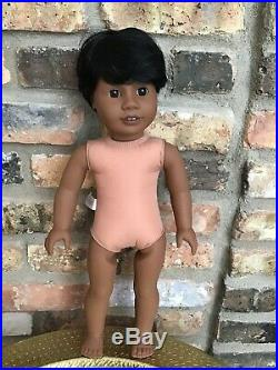 Dylan Custom Boy American Girl Doll OOAK Black Hair Brown Eyes Dark Skin