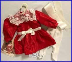 EARLY PLEASANT CO SAMANTHA (WHITE BODY) American Lot W RARE RED Christmas Dress
