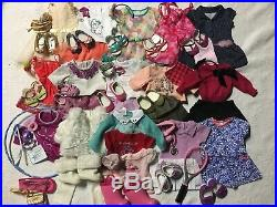 EUC American Girl Doll Truly Me Clothing Lot of 14 Outfits, Accessories and More