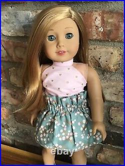 Emma Custom OOAK American Girl Doll Caroline Eyes Strawberry Blonde Red Hair