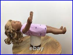 Eve Custom OOAK American Girl Doll Blue Eyes Blonde Curly Hair Kanani