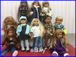 Fabulous Lot Of 10 American Girls Pleasant Company Majority Retired