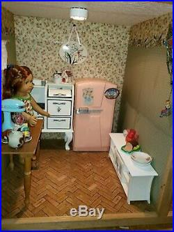 Fully Furnished And Decorated American Girl Doll House, With 10 dolls And
