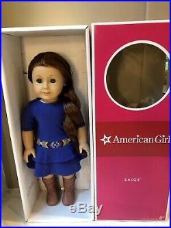 GOTY American Girl Doll SAIGE 2013 1 DOLL 1 RING 1 BOOK in Box RETIRED SAGE