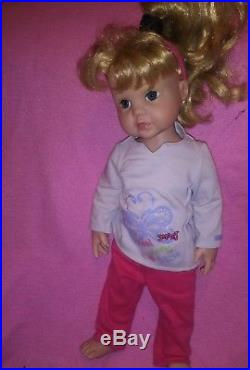 Gotz Hildegard Gunzel Doll #640 Blonde Hair Blue Eyes American Girl Friend 16.5
