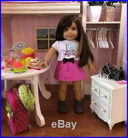 Grace Thomas American Girl 18 Doll Cooking Chef Year 2015 Box Book Extras Lot