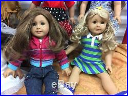 Great Lot Of 10 American Girl Pleasant Company Dolls Some Retired