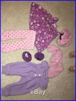 HTF Bitty Baby Lot Crib Doll High Chair Clothes Diaper