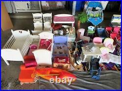 HUGE American Girl AG Lot Bundle MASSIVE 120+ Doll Baby Accessories RESALE $$$$
