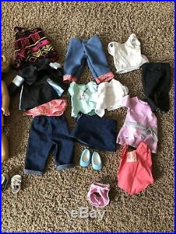 Huge 2 doll lot American Girl Dolls Clothes Shoes Accessories