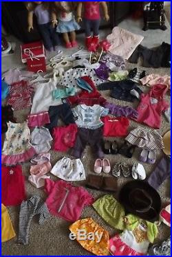 Huge American Girl Doll Lot 100+ items 3 DOLLS CLOTHES SHOES + MORE VGC