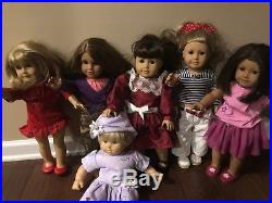 Huge Lot American Girl Pleasant Company Collection Lot Of 6 Dolls