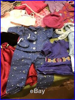 Huge Lot Bundle Authentic American Girl Clothes, Access. Dresses, Coats, Shoes, Hats