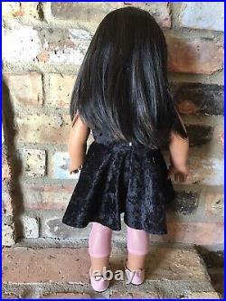Julia Custom OOAK American Girl Doll Hazel Eyes Brown Hair Josefina Freckles