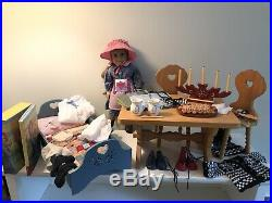 KIRSTEN American Girl Lot BED, TABLE, CHAIRS, CLOTHES, ACCESSORIES, BOOK SET