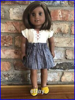 Kathryn Custom American Girl Doll OOAK Short Brown Hair Bangs Brown Eyes Sonali