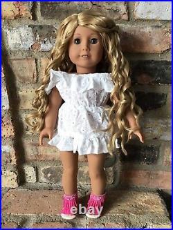 Katia Custom OOAK American Girl Doll Hazel Eyes Blonde Curly Hair Medium Skin