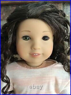 Kendall Custom American Girl Doll OOAK Brown Hair Heterochromia Hazel Brown Eye