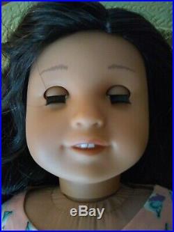 Kori Custom OOAK American Girl Doll Hazel Eyes Nanea Dark Brown Hair Kanani